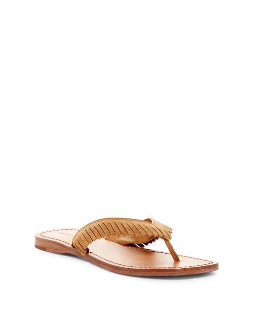 Frye | Multicolor Perry Fringe Thong Sandal | Lyst