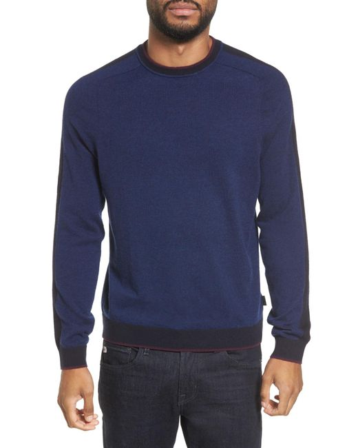Ted Baker - Blue Norpol Crewneck Sweater for Men - Lyst