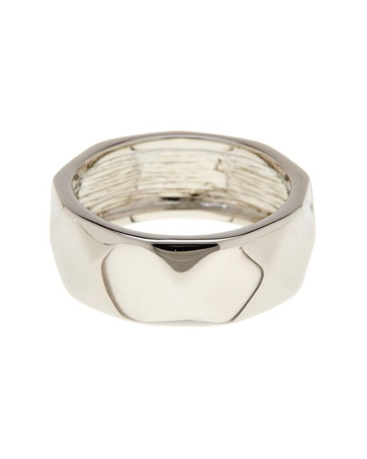 Ariella Collection | Multicolor Faceted Metal Band Ring | Lyst