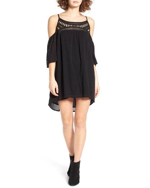 Rip Curl | Black Amorosa Cold Shoulder Dress | Lyst