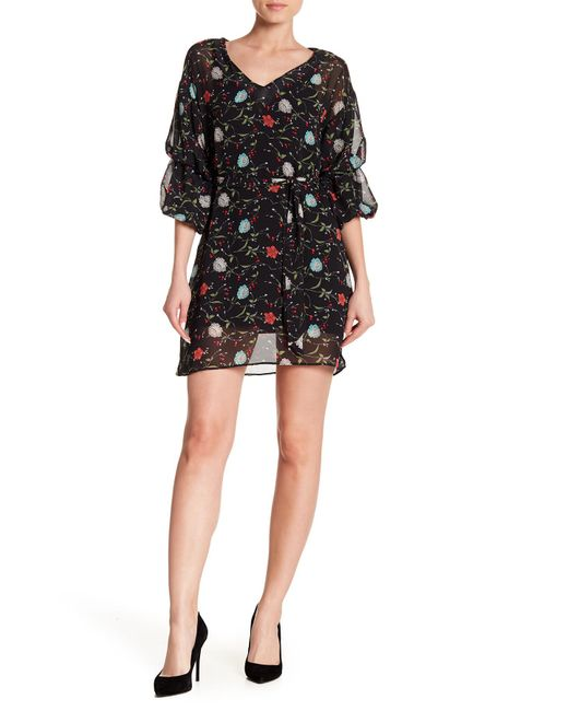 Haute Rogue - Black Puff Sleeve Mini Dress - Lyst