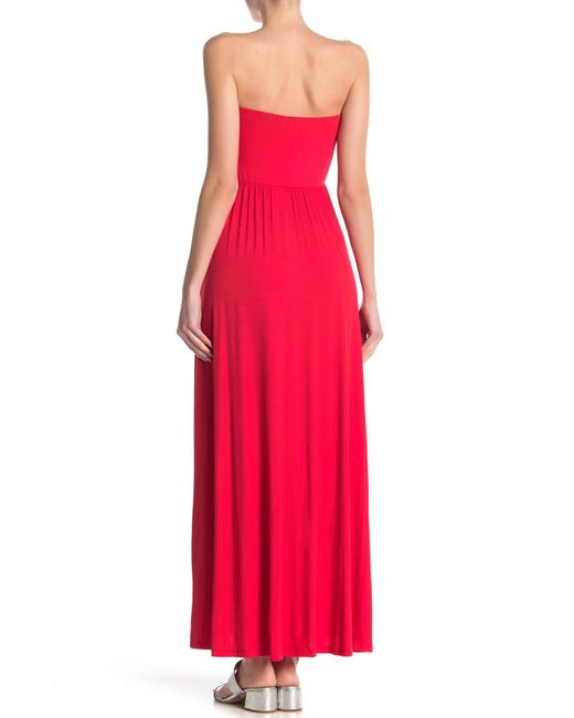 301097711ae ... West Kei - Red Strapless Knit Maxi Dress - Lyst