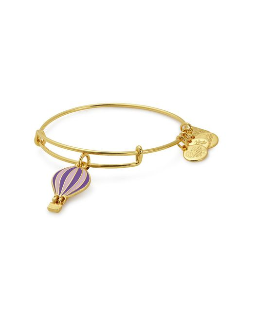 ALEX AND ANI - Metallic Charity By Design We Rise Charm Expandable Wire Bracelet - Lyst