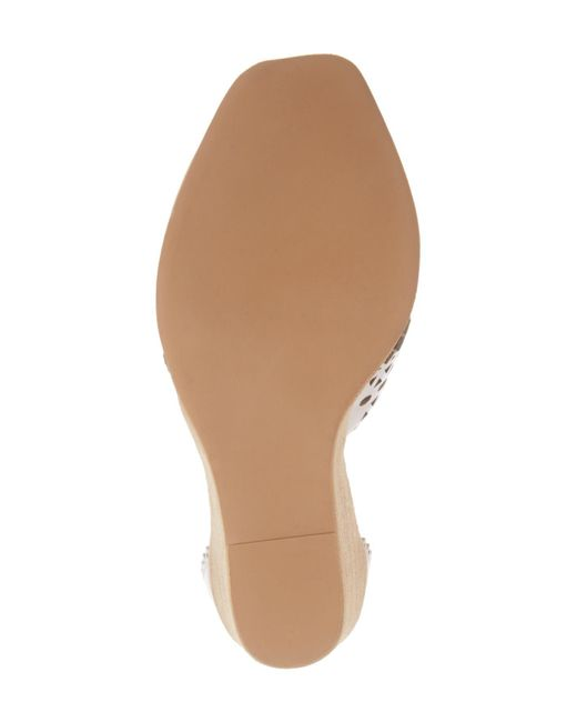 5ac8f8fc7af ... Jeffrey Campbell - White Besante Perforated Wedge Sandal (women) - Lyst  ...