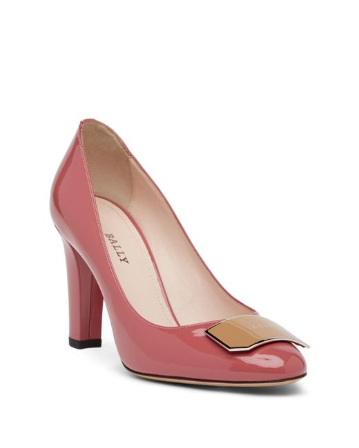 Bally - Pink Harmoni Logo Patent Leather Pump - Lyst