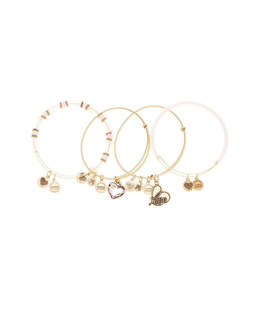 ALEX AND ANI | Metallic International Exclusive Alive Swarovski Crystal Extendable Wire Bangles - Set Of 4 | Lyst
