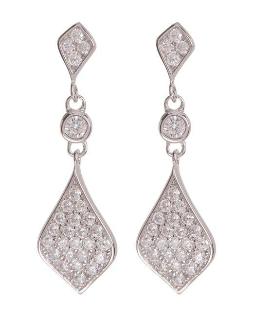 Argento Vivo - Metallic Sterling Silver Cz Drop Earrings - Lyst