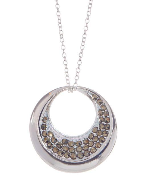 Argento Vivo | Metallic Sterling Silver Round Cutout Pendant Necklace | Lyst