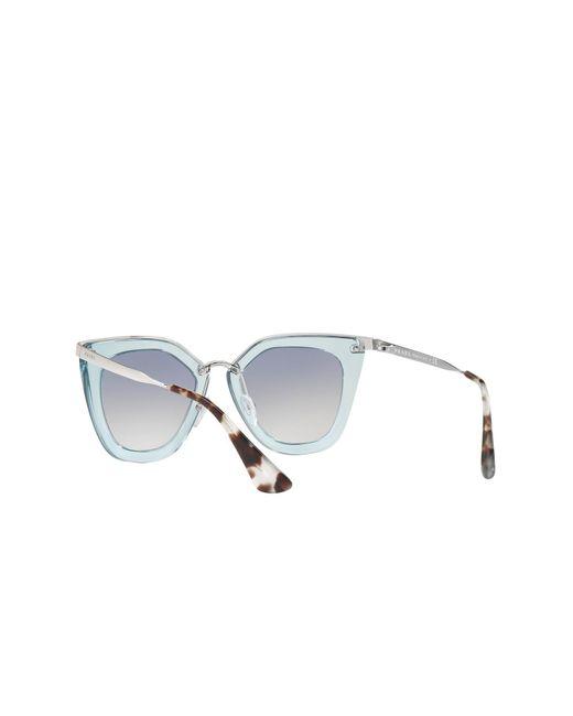 8b227aad5a99 ... Prada - Blue 52mm Retro Sunglasses - Lyst ...