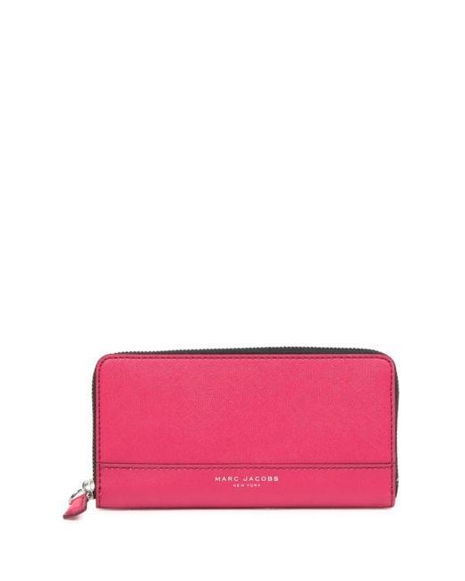 Marc Jacobs - Black Saffiano Bicolor Standard Continental Wallet - Lyst