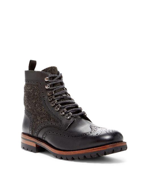 Frye | Black George Adirondack Genuine Shearling Lined Boot for Men | Lyst