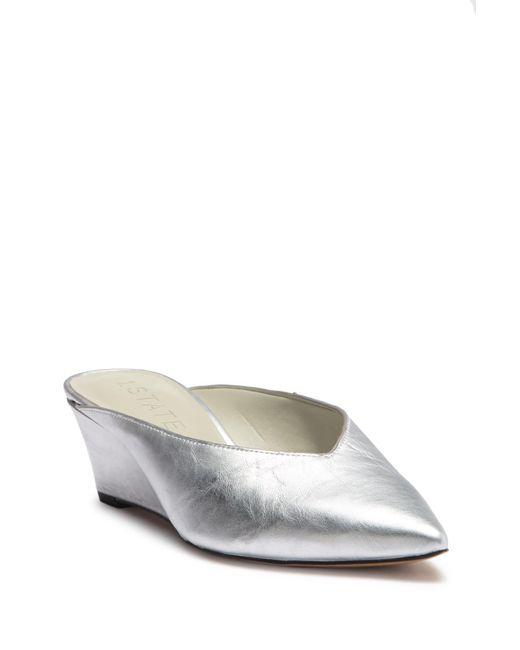 1.STATE - Metallic Leanne Leather Mule - Lyst