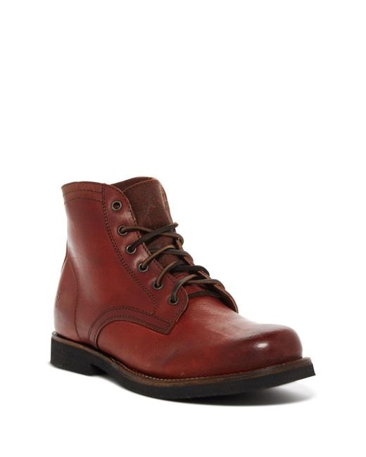 Frye   Brown Roland Lace-up Boot for Men   Lyst
