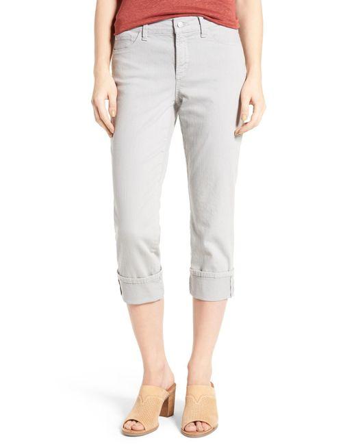 NYDJ - Multicolor Dayla Colored Wide Cuff Capri Jeans - Lyst