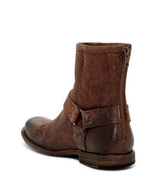 Frye Phillip Harness Boot In Brown For Men Lyst