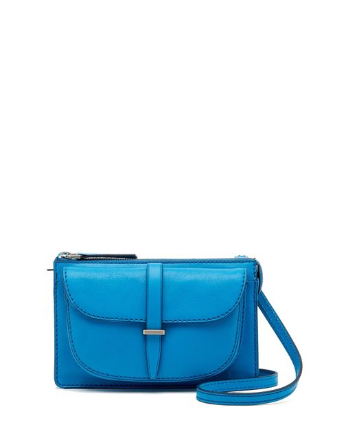 Fossil - Blue Ryder Small Leather Crossbody - Lyst