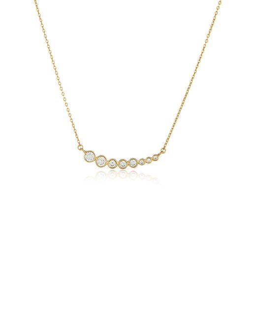 Melinda Maria - Metallic Julia Graduated Bezel Set Cz Pendant Necklace - Lyst