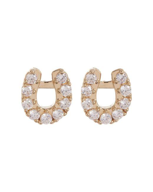 Nadri - Metallic Reminisce Pave Cz Horseshoe Stud Earrings - Lyst
