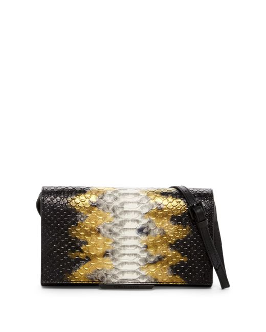 Kendall + Kylie | Black Hailey Snake Embossed Leather Convertible Crossbody | Lyst