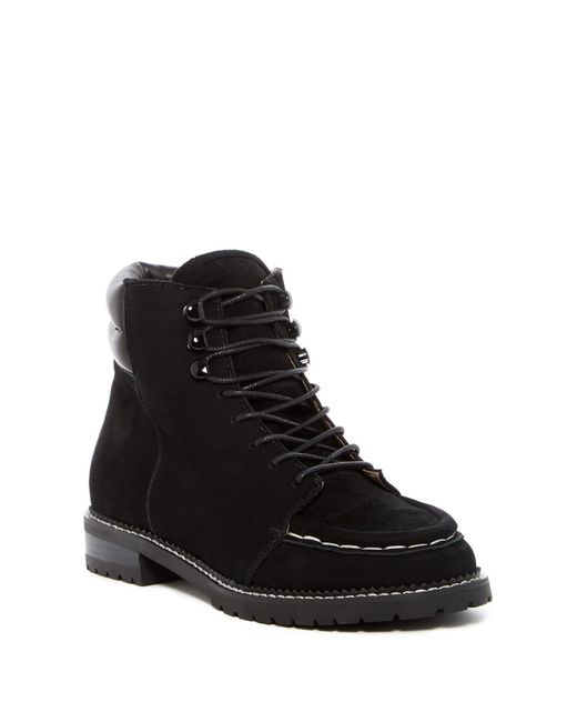 Raye - Black Emi Suede Work Boot - Lyst