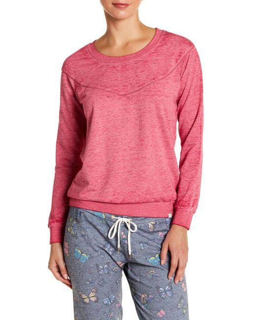 Honeydew Intimates | Pink Undrest Raglan Sweatshirt | Lyst