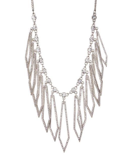 Jessica Simpson | Multicolor Crystal Detail Diamond Shaped Drop Necklace | Lyst