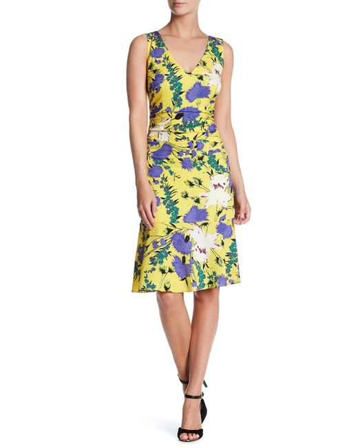 Tracy Reese | Yellow Flounced Print Dress | Lyst