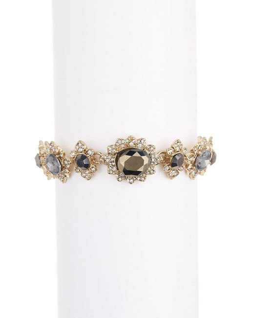 Marchesa - Metallic Crystal Cluster Link Bracelet - Lyst