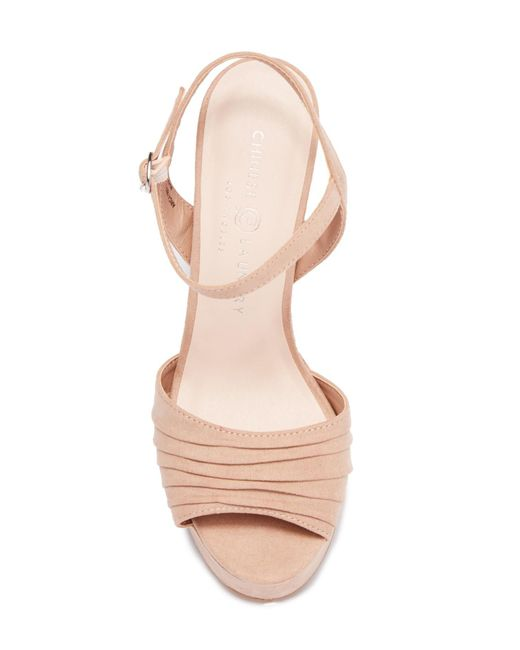 ee323effd327 ... Chinese Laundry - Multicolor Allie Pleated Platform Sandal - Lyst ...
