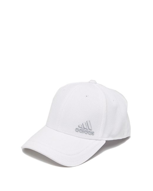 huge selection of dc8e1 96d6e Adidas - White Release Stretch Fit Cap for Men - Lyst ...