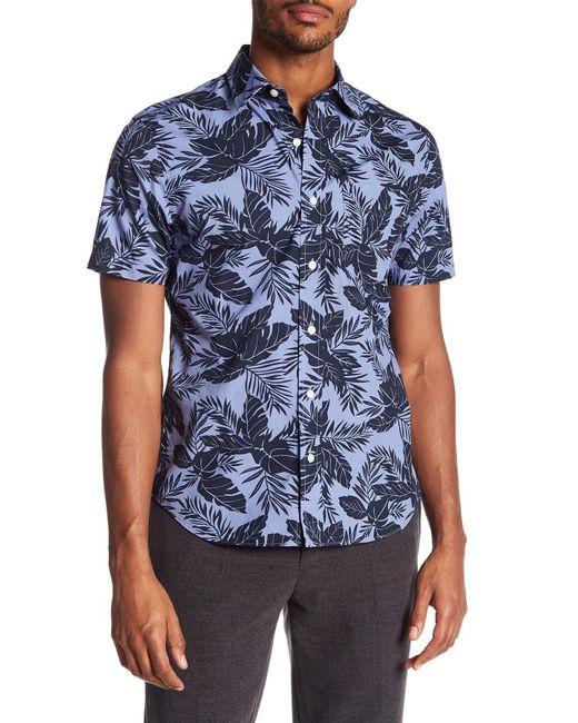 Jack Spade - Blue Clift Tropical Print Short Sleeve Shirt for Men - Lyst