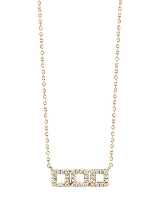 Dana Rebecca - Metallic 14k Rose Gold Diamond Accented Allison Joy 3 Square Necklace - 0.13 Ctw - Lyst
