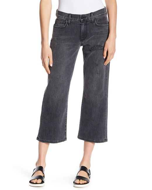 Siwy - Black Maria Luisa Cropped Straight Jeans - Lyst