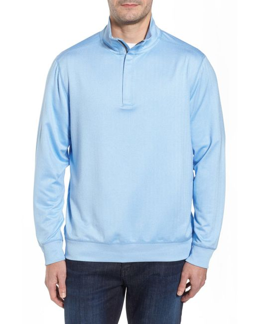 Tommy Bahama - Blue Pro Formance Quarter Zip Sweater for Men - Lyst