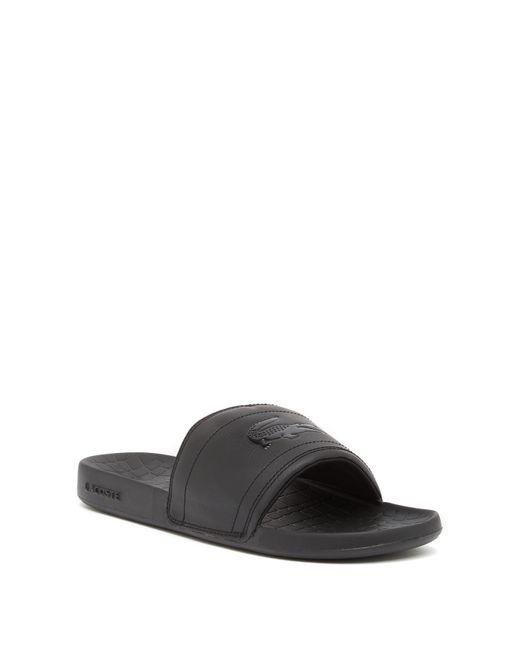 66d3cff7a3018 Lyst - Lacoste Fraisier 118 Slide Sandal in Black for Men - Save ...