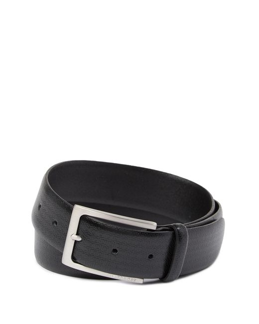 BOSS - Black Ceci Leather Belt for Men - Lyst