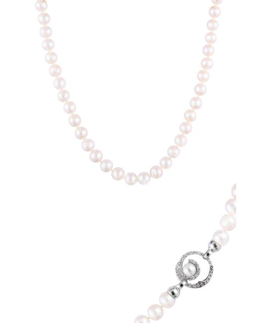 Splendid - Multicolor 8-8.5mm Freshwater Pearl Cz Clasp Necklace - Lyst
