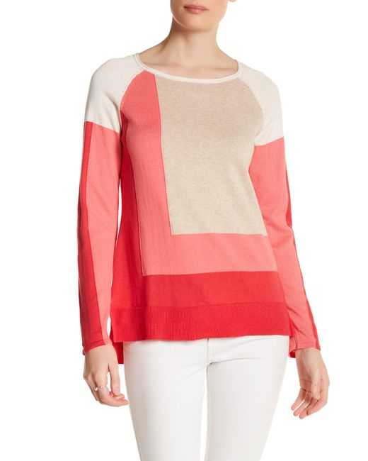 In Cashmere | Pink Colorblock Hi-lo Sweater | Lyst