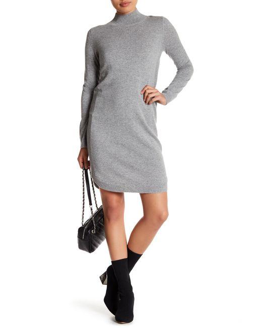 Philosophy Apparel | Gray Mock Neck Cashmere Sweater Dress (petite) | Lyst
