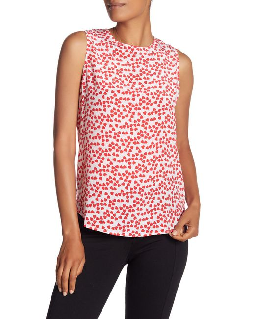 Equipment - Red Lyle Silk Patterned Tank - Lyst