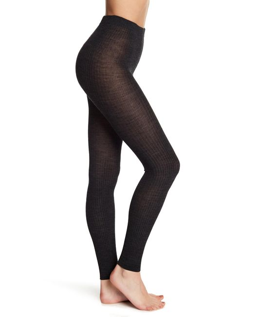 Smartwool - Multicolor Ribbed Knit Footless Tights - Lyst