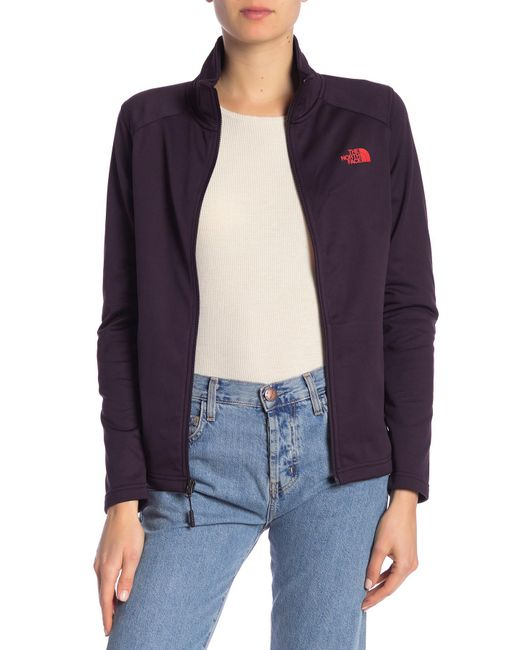 The North Face - Purple Tech Mezzaluna Full Zip Jacket - Lyst