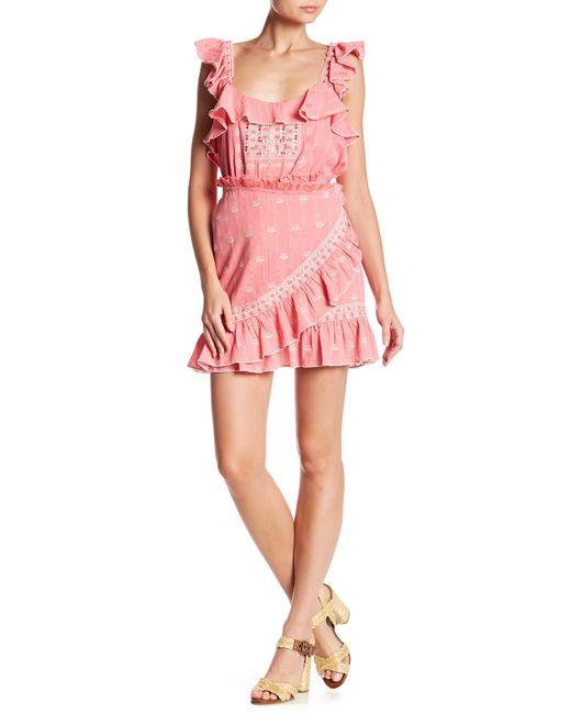 Love Sam - Pink Midsummer Wrap Miniskirt - Lyst