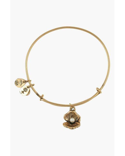ALEX AND ANI | Metallic 'oyster' Charm Expandable Bangle | Lyst