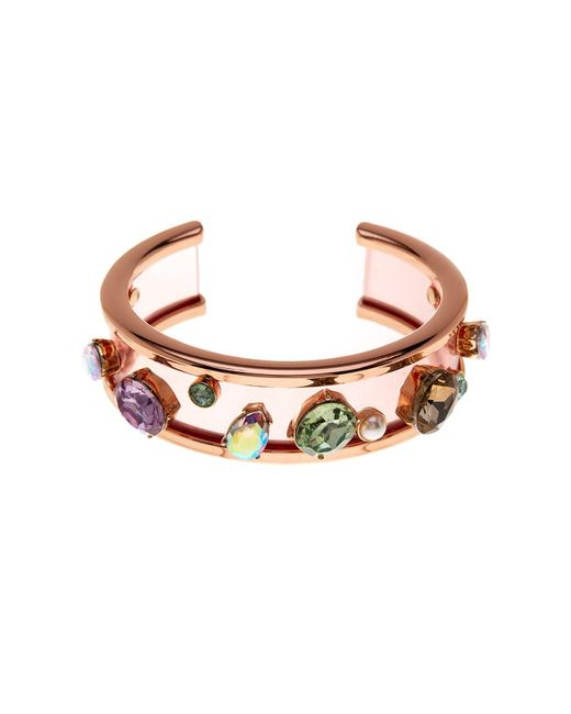 Betsey Johnson | Multicolor Embellished Resin Cuff | Lyst