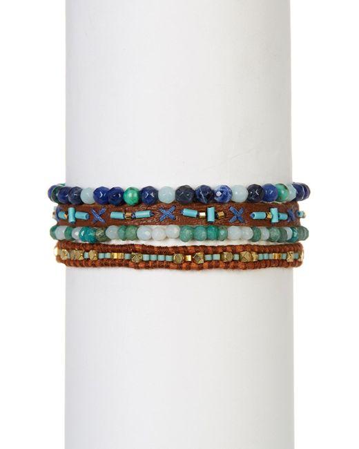 Chan Luu | Multicolor Leather & Bead Multi Strand Bracelet | Lyst