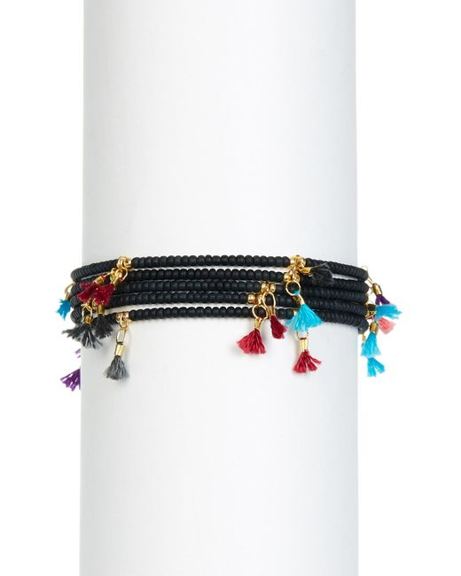 Shashi | Multicolor Leanna Tassel Accent Bead Bracelet - Set Of 5 | Lyst