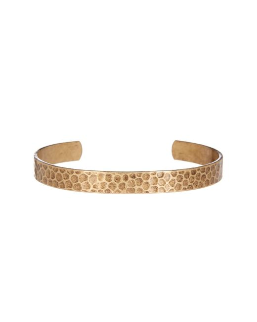 Link Up   Metallic Textured Open Cuff Bracelet   Lyst