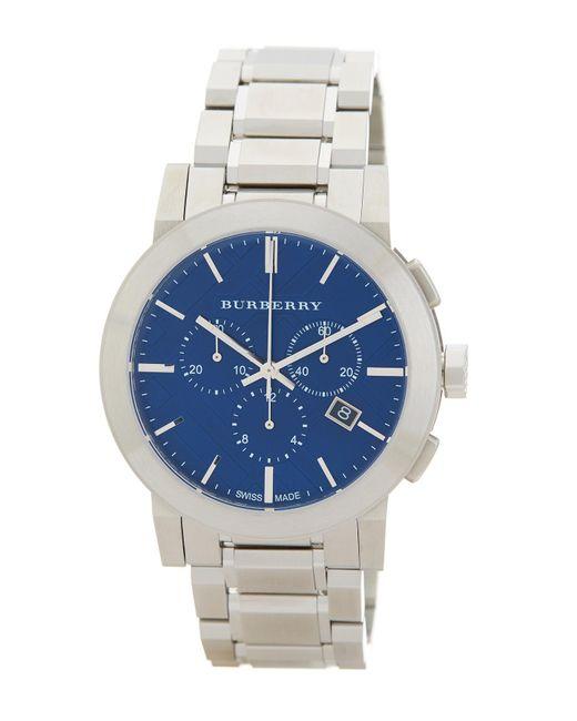 Burberry | Metallic Men's Chronograph Bracelet Watch for Men | Lyst