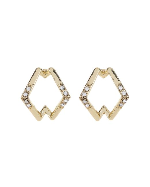House of Harlow 1960 | Metallic Crystal Detail Sound Wave Stud Earrings | Lyst